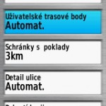 GPSmap 64 - Nastavení bodů