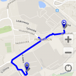 Geotracker - záznam trasy