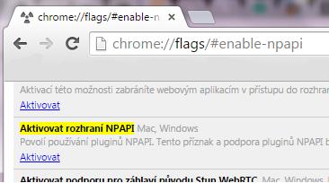Nastaveni Chrome